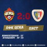 """ПФК ЦСКА – """"Пяст"""" 2-0 победа армейцев"""