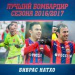 Бибрас Нахто стал лучшим бомбардиром в ЦСКА сезона 2016/2017