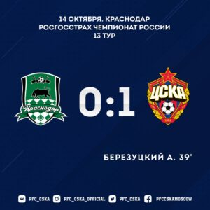 краснодар-ПФК ЦСКА - 1:0