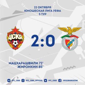 "SY32zvENr5c 300x300 - ЦСКА (мол.) - ""Бенфика"" (мол.) 2:0"