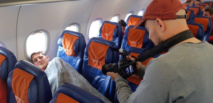 Игорь Дивеев в самолете