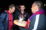 ЦСКА встретили пирогами по прибытии во Владиковказ