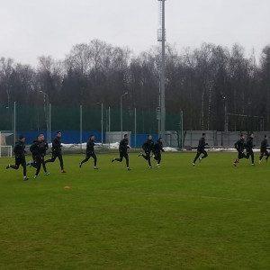 ЦСКА на тренировке