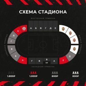 схема стадиона ФК Металлург